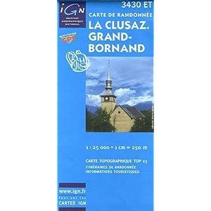 Carte de randonnée : La Clusaz Grand-Bornand