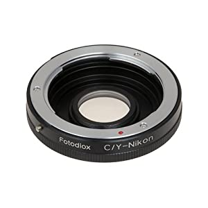 Fotodiox Lens Mount Adapter - Contax/Yashica (also known as C/Y CY) Lens to Nikon Adapter, for Nikon D1, D1H, D1X, D2H, D2X, D2Hs, D2Xs, D3, D3X, D3s, D4, D100, D200, D300, D300S, D700, D800, D800E, D40, D50, D60, D70, D70S, D80, D40X, D90, D3000, D3100,