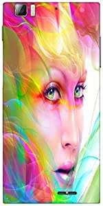 Snoogg colorful hair woman 2769 Designer Protective Back Case Cover For Lenovo A6000