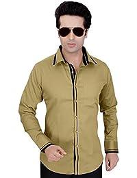 Arany's Premium Mustard Slim Fit Party Wear Shirt For Men - F5703
