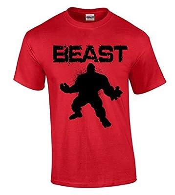 icustomworld Gym Beast Hulk T-shirt Workout Motivation Cool Shirts
