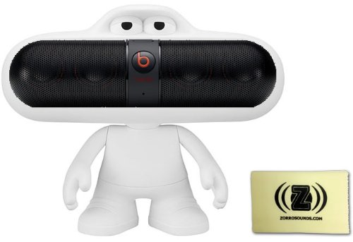 Beats By Dr. Dre Pill 2.0 Wireless Portable Speaker System (Black) Bundle With White Beats Pill Character Stand And Zorro Sounds Polishing Cloth