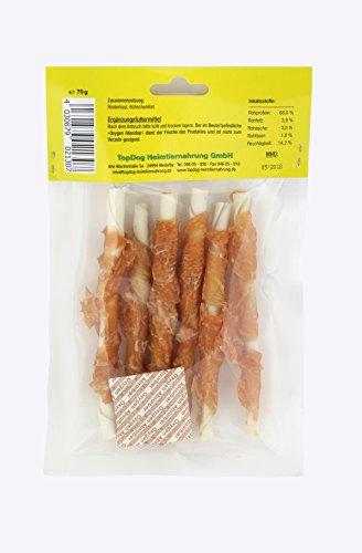 Bild von: Top Dog Kaustangen im Hühnchenfiletmantel - Hähnchenbrust - Huhn in Streifen 70g