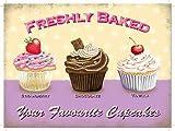The Original Metal Sign Favourite cupcakes
