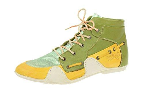 EjectEject Sayaka Stiefelette - gelb + grün + hellgrün glänzend - Sommer 2014 - Pantofole a Stivaletto Donna , Verde (verde), 42