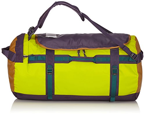 The North Face - Borsone da viaggio unisex base camp, colore verde (depth green/venom yellow), taglia L (79 x 40 x 40 cm, 95 L)