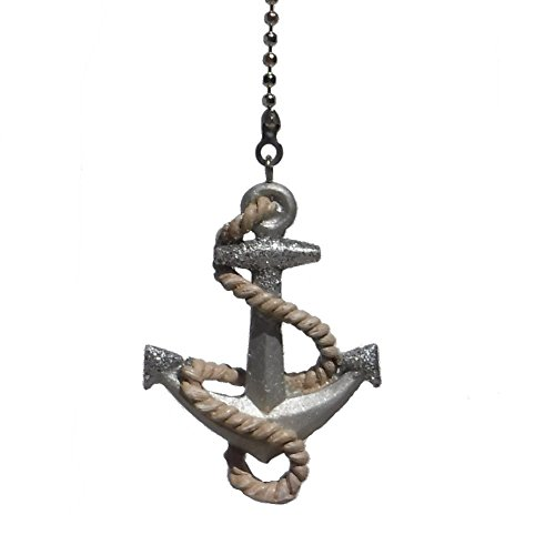 WeeZ Industries - boat ship ANCHOR rope nautical Ceiling fan pull light chain extender ornament (Fan Pulls Decorative Nautical compare prices)