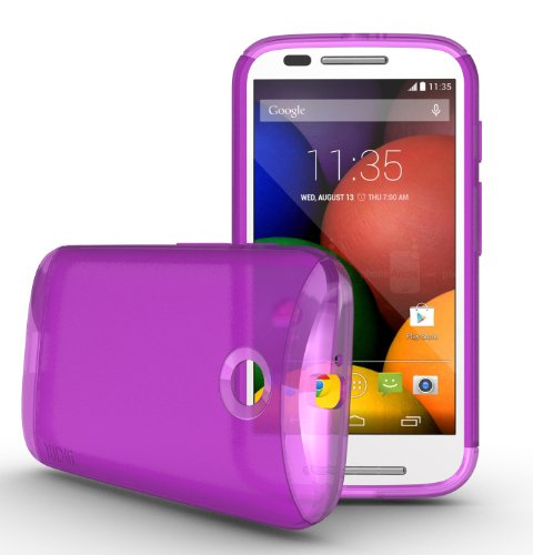 Tudia Ultra Slim Lite Tpu Bumper Protective Case For Motorola Moto E (2014) (Purple)