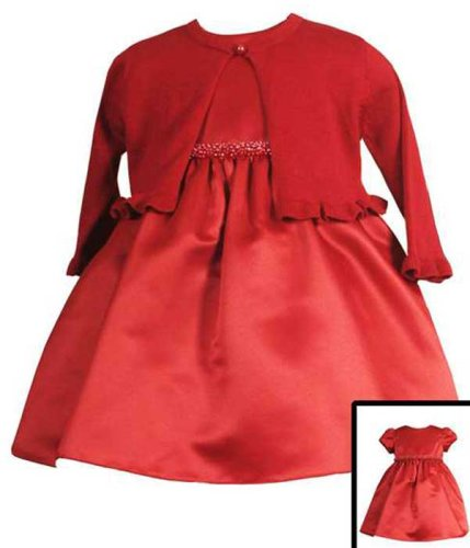 New Red Organza Dress with Sweater Bolero ~ 12M to 24M ~ Christmas Holiday