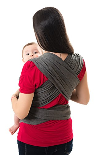 Scandinavian-Baby-Sling-for-Newborns-and-Infants-Adjustable-CottonSpandex-Wrap-HandsFree-Swaddle-for-Moms-and-Dads-Supports-Discrete-Breastfeeding-Travel-Friendly