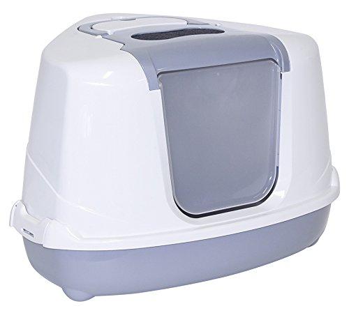 maison-toilette-chat-dangle-gris-metalise