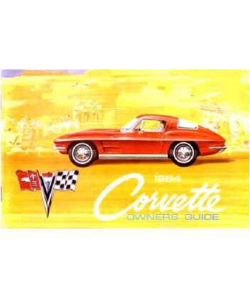 1964 CHEVROLET CORVETTE Owners Manual User Guide