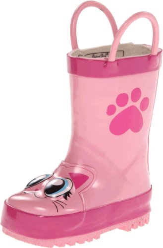 Western Chief Kids Pink Kitty Rain Boot (Toddler/Little Kid/Big Kid),Pink,12 M US Little Kid (Kid Rain Boots compare prices)