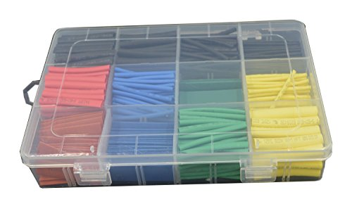 URBEST® 530 Pcs 2:1 Heat Shrink Tubing Tube Sleeving Wrap Cable Wire 5 Color 8 Size (Shrink Wire Wrap compare prices)