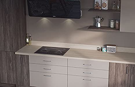 Egger Contemporary White Fleetwood Effect Kitchen Bathroom Laminate Worktop Offcut Work Surface 40mm Breakfast Bar - 3m x 670mm x 38mm Breakfast Bar