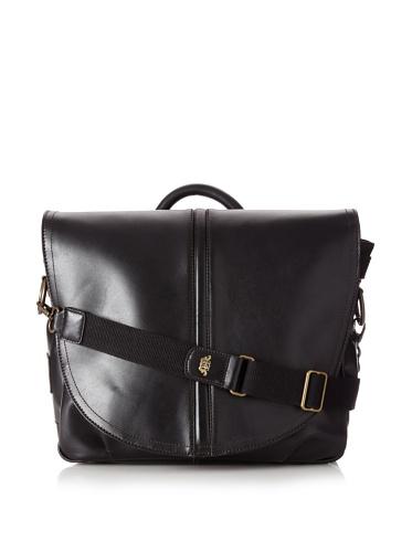 Bosca Men's Mail Bag, Black, One Size