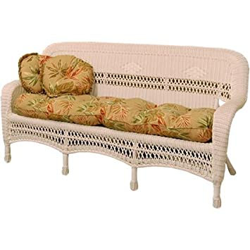 Classic Coastal Avalon Wicker Sofa