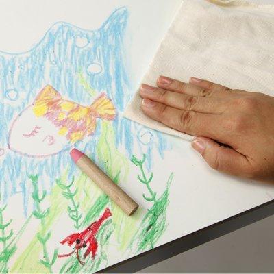 無印良品 ぬれタオルで簡単におとせるクレヨン 12色