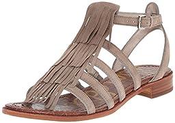 Sam Edelman Women\'s Estelle Flat Sandal, Putty, 8 M US