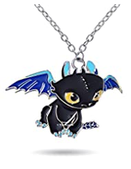 Famous How To Train Your Dragon Night Fury Necklace By Via Mazzini