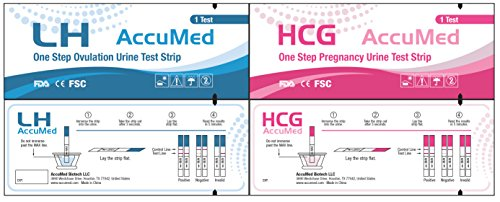 AccuMed-Combo-50-Ovulation-LH-25-Pregnancy-HCG-Test-Strips-Kit-Clear-and-Accurate-Results-FDA-Approved-and-Over-99-Accurate