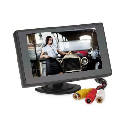 "DB Power 4.3"" TFT LCD Headrest Stand Backup Monitor Color Car Monitor for DVD / VCR / GPS / Car Reverse Camera at Sears.com"