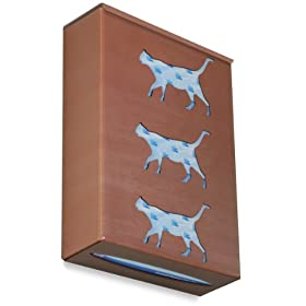 "TrippNT 52663 Ultimate Cat Triple Sparkling Canyon Copper Dual Dispensing Glove Holder , 10"" Width x 15"" Height x 4"" Depth"