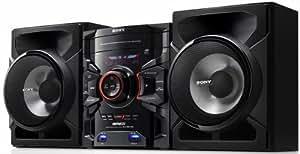 Sony MHC-GTR333 GENEZI Mini Stereo Hi-Fi Boombox Component Shelf System 500 Watt Micro AM/FM Radio 3-Disc CD/MP3 Player Component Speaker System with Dual USB Player/Record