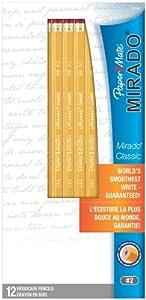 Paper Mate Mirado #2 Classic Cedar Pencils, 12 Pencils (58592)