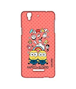 Happily Blended Coral - Sublime Case for YU Yureka Plus