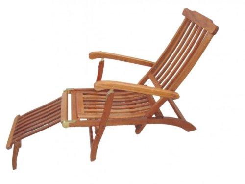 Eleganter Deckchair aus hochwertigem Hartholz