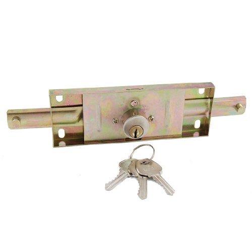 Water & Wood Warehouse Garage Hardware Metal Rolling Gate Door Lock + 3 Pcs Keys