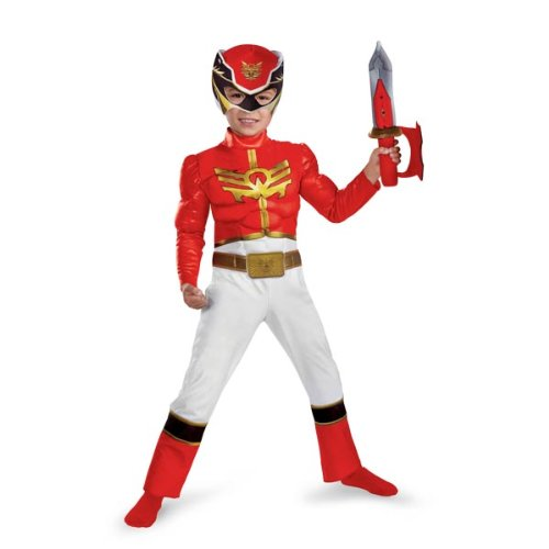 Muscle Chest Power Rangers Megaforce Red Ranger Toddler Costume - Kids Costumes