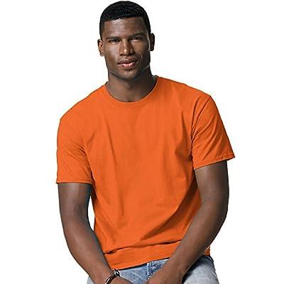 Hanes Adult Tagless® T-Shirt - Safety Orange (60/40) - L