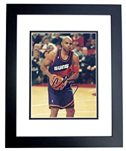 Charles Barkley Autographed Hand Signed Phoenix Suns 8x10 Photo - BLACK CUSTOM FRAME by Real Deal Memorabilia