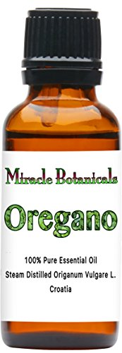 Miracle Botanicals Oregano Essential Oil - 100% Pure Origanum Vulgare L. - Therapeutic Grade 30ml