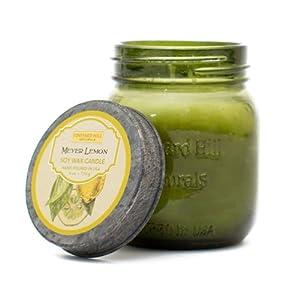 Vineyard Hill Naturals Vintage Canning Jar Candle, 6-Ounce, Meyer Lemon