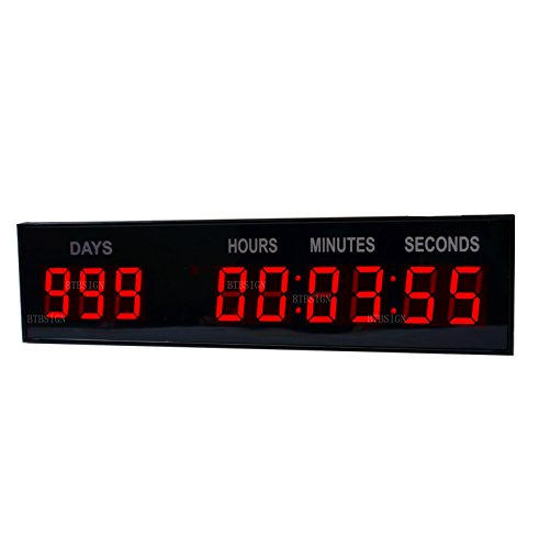1.8'' LED Large Digital Countdown Clock Event Timer With Remote And Buttons (Countdown Timer Large compare prices)