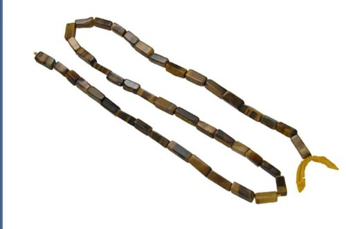 Tiger Eye Flat Beads Cube Loose Strand Opaque Stone Fancy