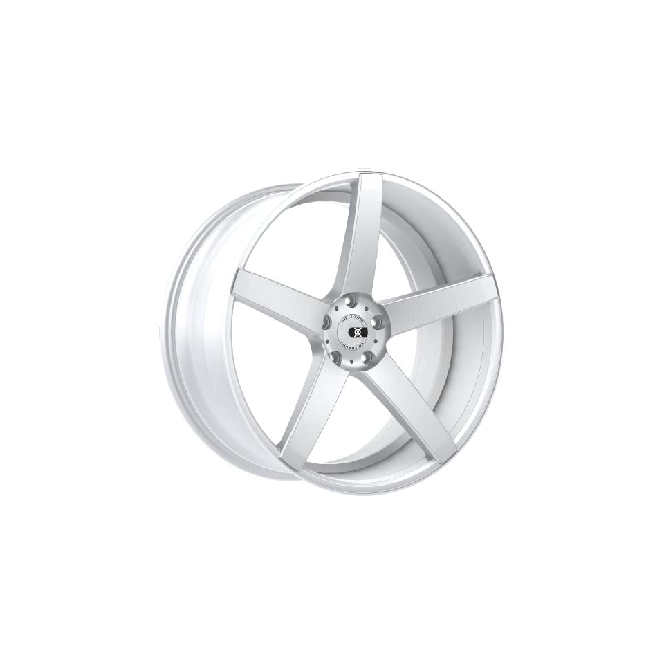 XO Miami 20 Silver Wheel / Rim 5x4.5 with a 32mm Offset and a 73.1 Hub Bore. Partnumber X203KL5F32R73