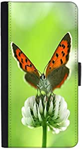 Snoogg Butterfly In White Flower Designer Protective Phone Flip Back Case Cover For Xiaomi Redmi Note 3