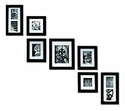 Pinnacle Frames and Accents 7-Piece Photo Frame Set, Black