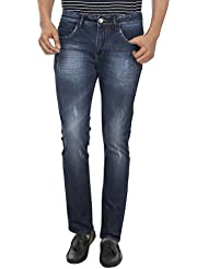 Fever Men's Dark Blue Plain Slim Fit Jeans - B01DBX4Z6C