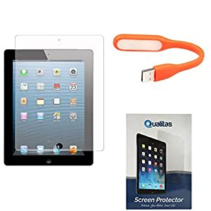 Qualitas Pack of 11 Matte Screen Protector for Asus Google Nexus 7 1st Generation 2012 + Flexible USB LED Bright Light