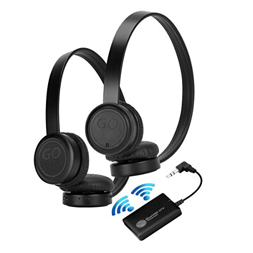 tv headphones wireless. gogroove bluevibe 2 tv wireless pair headphones television connection kit with plush lightweight ear cups , bluetooth transmitter and easy setup - great tv e