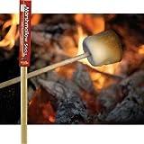 Wooden Marshmallow Sticks 32-inch (100% Biodegradable) 20-pc Set