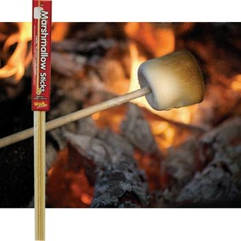 Lowest Price! Wooden Marshmallow Sticks 32-inch (100% Biodegradable) 20-pc Set