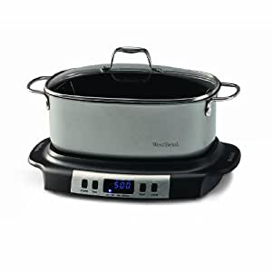 West Bend 84966 Versatility Oval-Shaped 6-Quart Programmable Slow Cooker