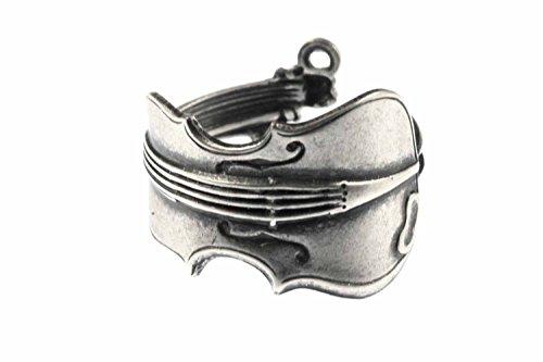 Geigenring-Ring-Geige-Miniblings-Fingerring-Violine-Bratsche-Geiger-versilbert