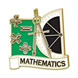 Mathematics Pin - Math Lapel Pins for Student Awards and Academic Excellence Pins 10 Pack